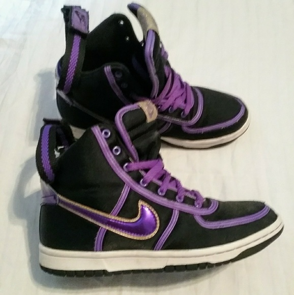 purple and gold nike shoes